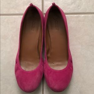 J. Crew Shoes - Pink suede flats